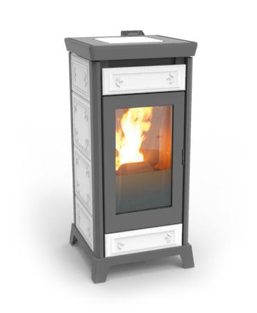stufa pellet thermorossi modello kokkola plus maiolica nuova garanzia e fattura ebay. Black Bedroom Furniture Sets. Home Design Ideas